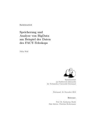 Speicherung und Analyse von BigData am Beispiel ... - TU Dortmund