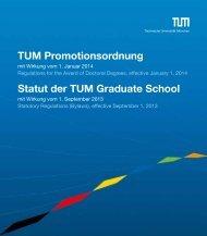 Statut der TUM-GS - Graduiertenzentrum Weihenstephan