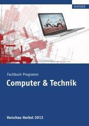 Vorschau Informatik Technik Herbst 2013 - Hanser Fachbuch