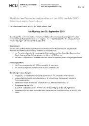 Merkblatt zu Promotionsstipendien an der HCU - HafenCity ...