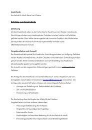Richtlinien - Hochschule für Musik Franz Liszt