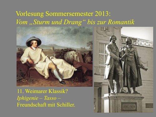 """Vom """"Sturm und Drang"""" zur Romantik 11 - Heinrich Detering"""