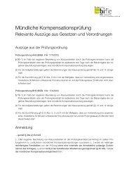 Mündliche Kompensationsprüfung – Relevante Auszüge aus ... - Bifie