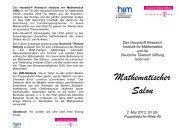 (HIM) ist ein Teil des Hausdorff-Zentrums für Mathematik