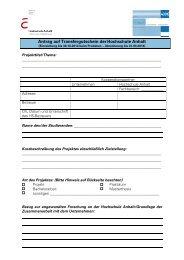 Antrag auf Transfergutschein derHochschule Anhalt