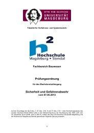 Prüfungsordnung 11/2013 - Hochschule Magdeburg-Stendal