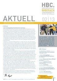 HBC-Termine Editorial - Hochschule Biberach