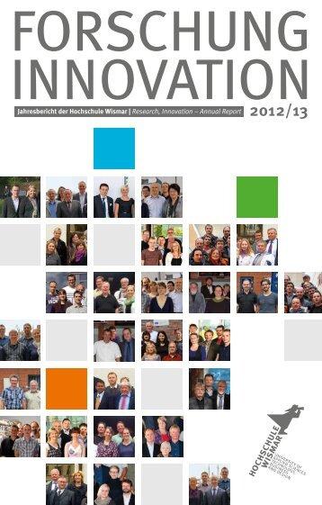 Forschung & Innovation 2012/13 - Hochschule Wismar