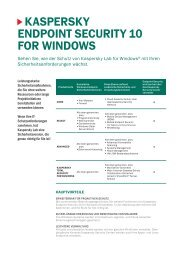 kaspersky endpoint security 10 for windows - Future-X Software GmbH