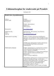 Uddannelsesplan for studerende på Proaktiv - Fredericia Kommune