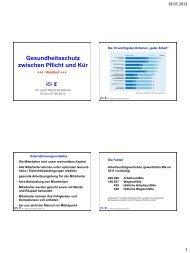 erwicon 2013: Gesundheitsschutz zwischen Pflicht und Kür - Erfurt