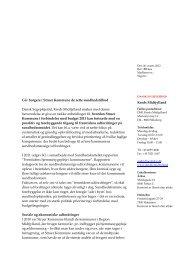 Budgethenvendelse Struer Kommune.pdf - Dansk Sygeplejeråd