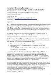 Merkblatt für Ärzte, Leitungen von Gemeinschaftseinrichtungen und ...