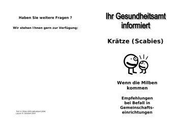 Krätze (Scabies) - Berlin.de