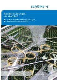 Saubere Lösungen für die ZSVA. - Schülke & Mayr