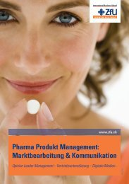 Pharma Produkt Management - ZfU International Business School