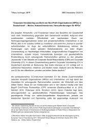 Corporate Volunteering aus Sicht von Non-Profit Organisationen - BBE