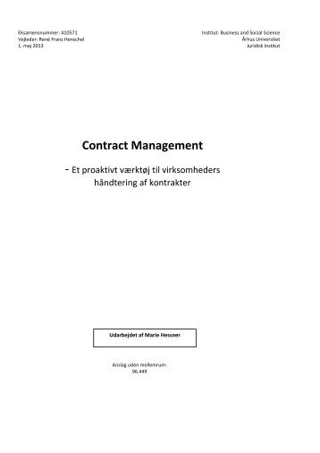 Contract Management - PURE