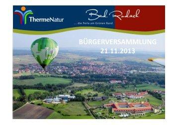 Bericht der ThermeNatur - Bad Rodach