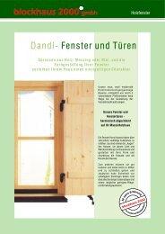 28-30 Holzfenster - Blockhaus Barth