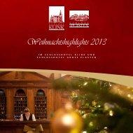 Weihnachtshighlights 2013 - Schlosshotel Klink