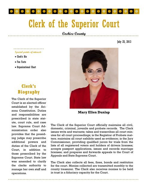 Top Five Cochise County Superior Court - Circus