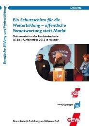 Dokumentation Herbstakademie 2012 - GEW