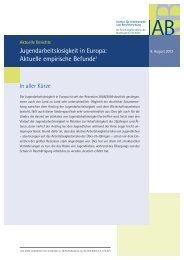 Aktuelle Berichte:Jugendarbeitslosigkeit in Europa: Aktuelle ... - IAB