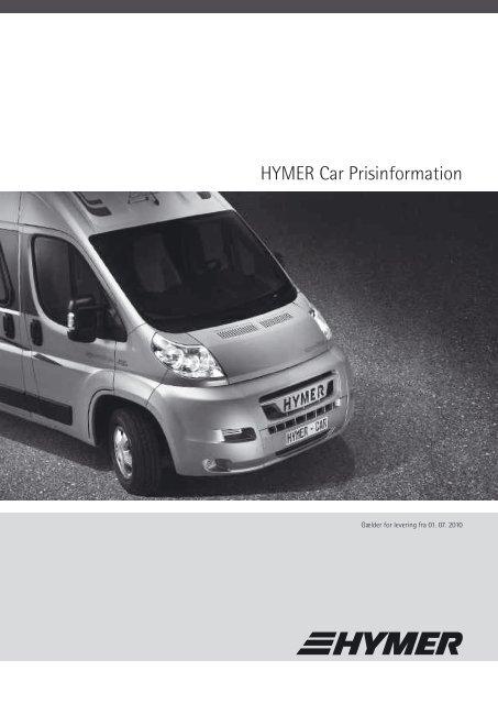 HYMER Car Prisinformation - HYMER.com