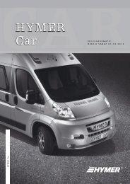 Hymer Car Prijslijst en Technische Gegevens NL 2013
