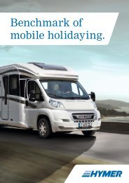 Benchmark of mobile holidaying. - HYMER.com