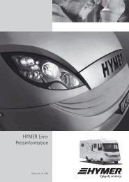 HYMER Liner Preisinformation - HYMER.com