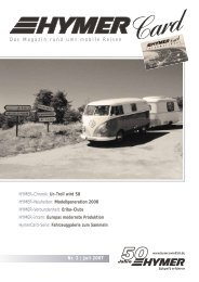 Nr. 2 | Juli 2007 Das Magazin rund ums mobile Reisen - HYMER.com
