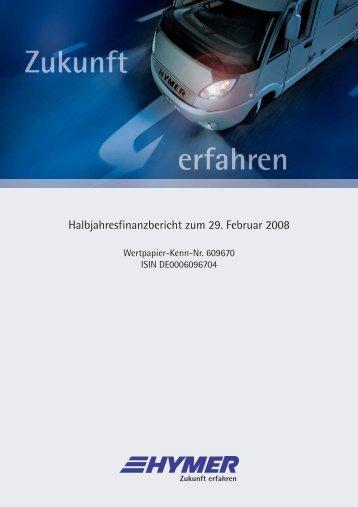 Der komplette Halbjahresfinanzbericht im PDF-Format - HYMER.com