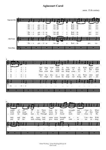 Agincourt carol.pdf - The Hymns and Carols of Christmas