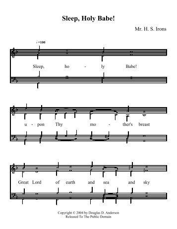 Sleep, Holy Babe! - The Hymns and Carols of Christmas