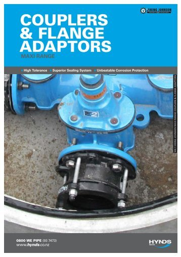 COUPLERS & FLANGE ADAPTORS - Hynds