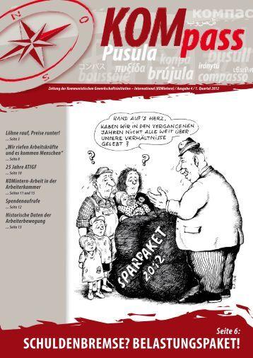 KOMpass – Ausgabe 4 / 1. Quartal 2012
