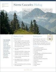 Sierra Cascades Dialog - US Forest Service