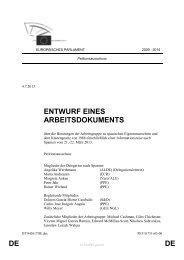 DE DE ENTWURF EINES ARBEITSDOKUMENTS - Europa