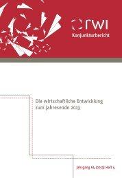 RWI-Konjunkturbericht 2013 - BME