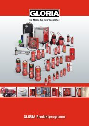 GLORIA Feuerlöscher Produktprogramm
