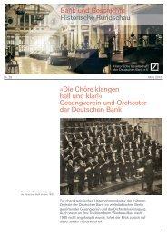 Folge 2013/1 - Historische Gesellschaft der Deutschen Bank e.V.