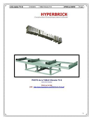 TABLE Vibrante TV-8 - Texte informatif - Hyperbrick