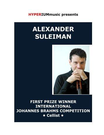 ALEXANDER SULEIMAN, Cello - HYPERIUMmusic