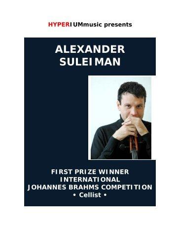 Alexander Suleiman - HYPERIUMmusic