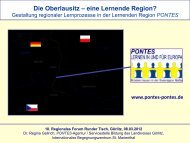 Die Oberlausitz – eine Lernende Region? - Hypertransformation
