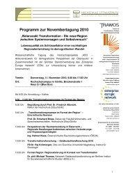 Tagungsprogramm - Hypertransformation