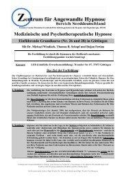 Medizinische und Psychotherapeutische Hypnose - Zentrum für ...