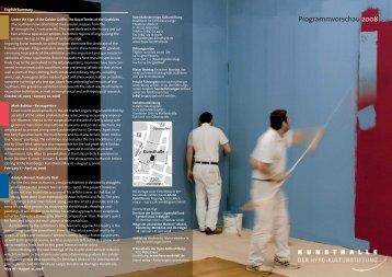 Programmvorschau 2008 - Kunsthalle der Hypo-Kulturstiftung